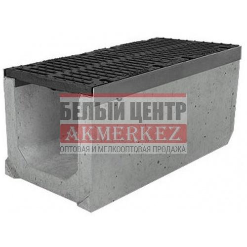 Лоток бетонный водоотводный SUPER (Maxi DN300) H410 с решеткой щелевой чугунной ВЧ, кл.Е купить