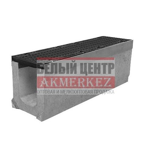 Лоток бетонный водоотводный SUPER (Maxi DN150) H130 с решеткой щелевой чугунной ВЧ, кл.Е купить