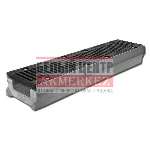 Лоток бетонный водоотводный SUPER (Maxi DN110) H270 с решеткой щелевой чугунной ВЧ купить
