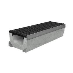 Лоток бетонный водоотводный SUPER (Maxi DN150) H310 с решеткой щелевой чугунной ВЧ, кл.Е