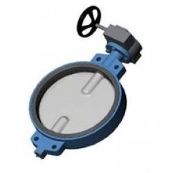 Затвор дисковый поворотный VP4408 Ду400 Ру10 межфл ред Tecofi
